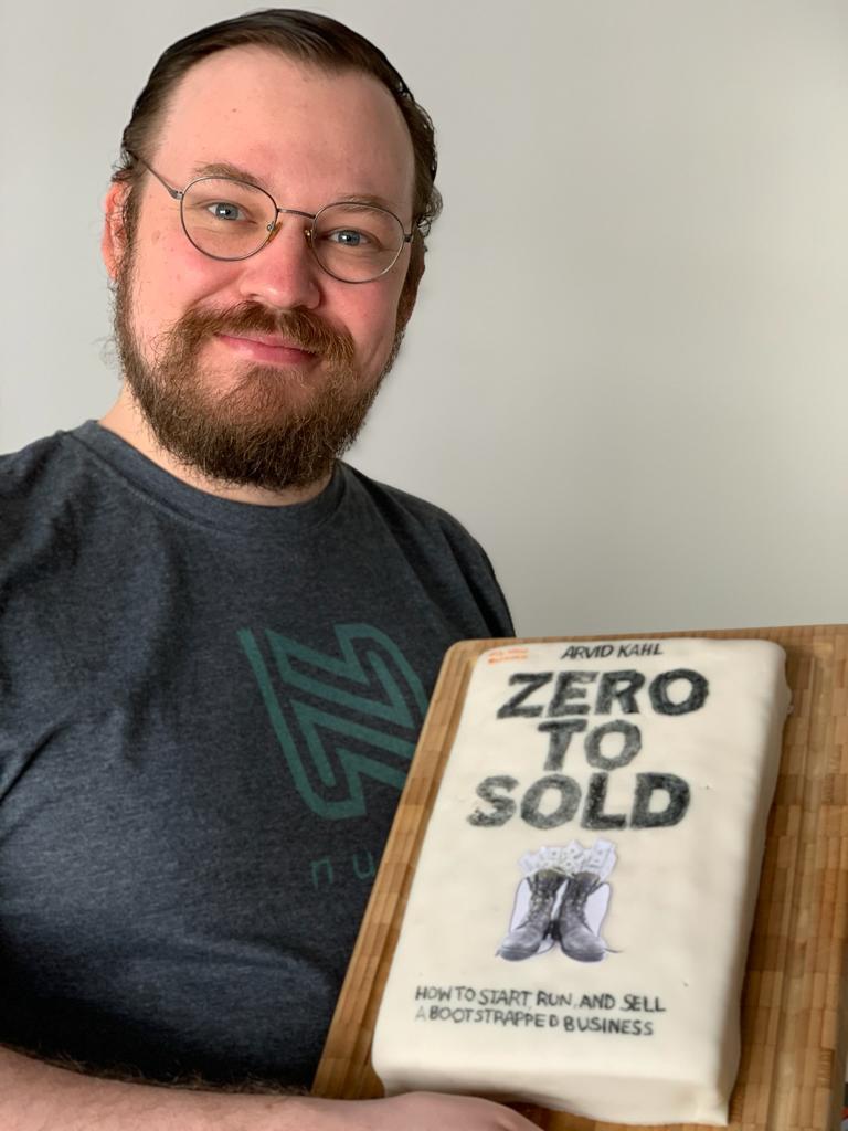 A Zero to Sold cake